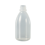 Fles PE 100ml nat. z/dop