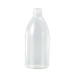 Fles PE 500ml nat. z/dop