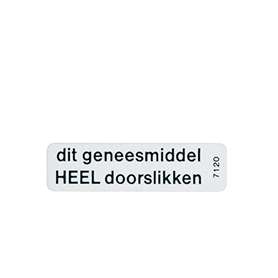 Sticker Geneesm. heel doorsl